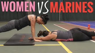 Women try the Royal Marines Fitness Test without practice