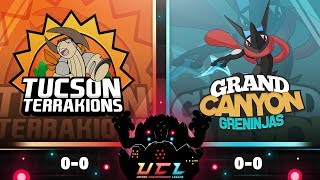 Pokémon USUM LIVE Wi-Fi Battle [UCL S3W1] Tucson Terrakions vs Grand Canyon Greninjas