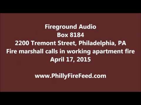 4-17-15, 2200 Tremont St, Philadelphia, PA, Apartment Fire
