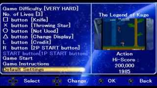 Taito Legends Power-Up (PSP)- The Legend of Kage- 1st level on VERY HARD difficulty