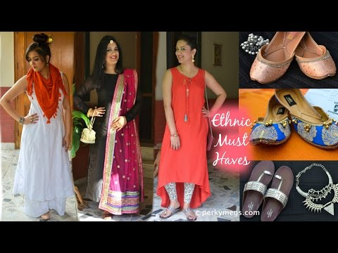 Indian Wardrobe essentials - Indian ethnic wear - Perkymegs - 동영상