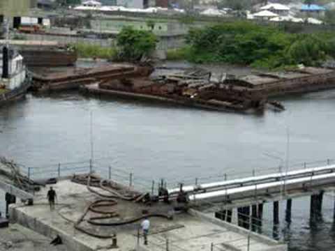 Oil terminal Bonny River (Port Harcourt, Nigeria)