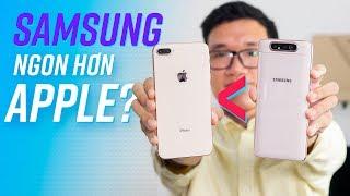 14 triệu chọn mua Galaxy A80 hay iPhone 8 Plus?