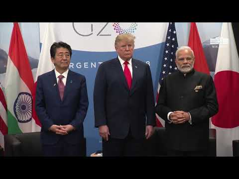 President Trump Meets with the PM of Japan and the PM of the Republic of India