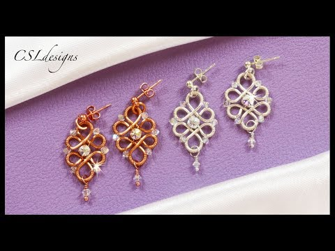 Wirework wedding earrings