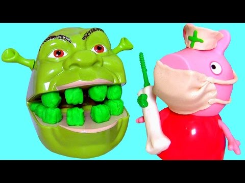 Nurse Peppa Pig Fix Shrek's Rotten Root Canal using Play-Doh Doctor Drill 'N Fill from YouTube · Duration:  12 minutes 11 seconds