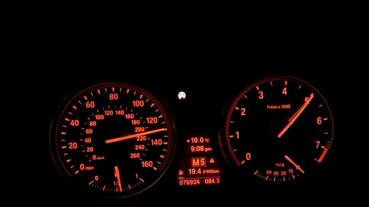 bmw 535i e60 2008 stock acceleration beschleunigung 0-200 km/h 0