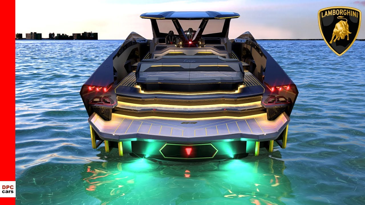 Lamborghini Tecnomar Luxury Yacht - YouTube