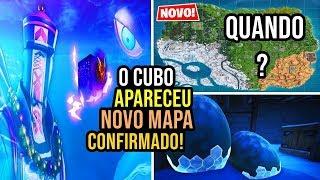 CUBO APARECEU E EPIC FALA DO MAPA NOVO DO FORTNITE TEMPORADA 7
