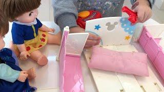 アンパンマンくみたてDIYのおもちゃでこわれたベッドをなおそう!Anpanman Driver Toy