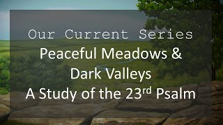 Peaceful Meadows & Dark Valleys | Psalm 23:2
