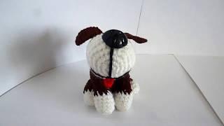 вязанная собачка
