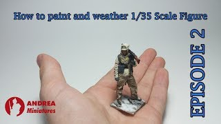 Tutorial - How to paint and weather 1/35 scale miniatures - MG 42 SS soldier (ANDREA MINIATURES)