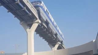 Jumeirah Palm Island Monorail moving with no driver 18.09.2016