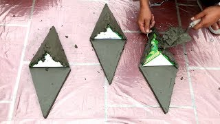 DIY - ❤️ CEMENT CRAFT IDEAS ❤️ - Making simple home-made wall pots