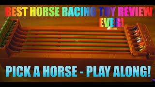 Horse Race Derby TOY - Complete Unboxing & full 6 Horse RACE!  1080p 24p HD! GH2 hack Lumix 20mm