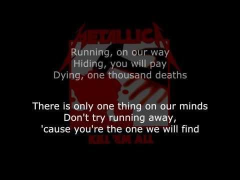 Metallica - Seek And Destroy Lyrics (HD)