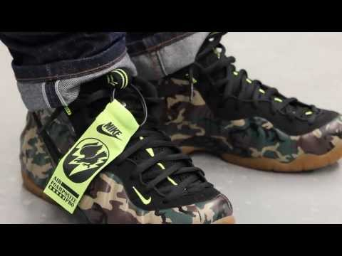 """Nike Air Foamposite Pro PRM LE """"Camo"""" On-feet Video at Exclucity"""