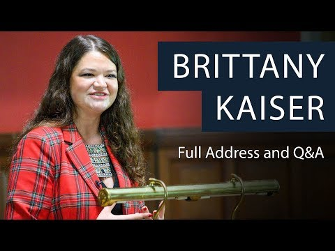 Cambridge Analytica Whistleblower, Brittany Kaiser | Full Address and Q&A