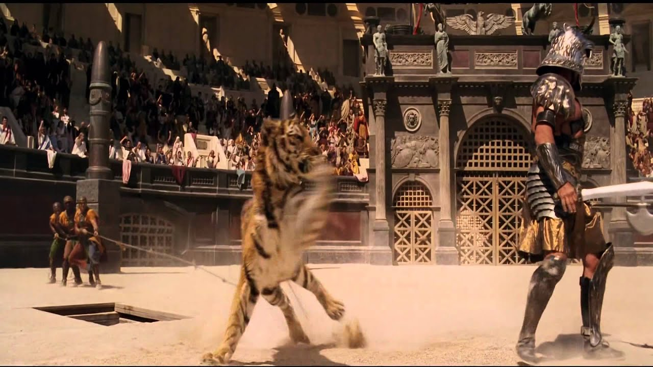 Gladiator Fight Scene - YouTube