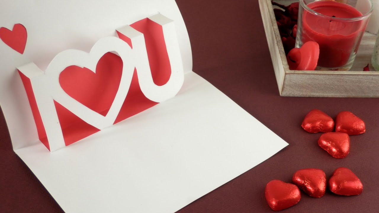 Manualidades tarjeta 3d para san valentin 3d valentine s day pop up card youtube - Manualidades para hacer en san valentin ...