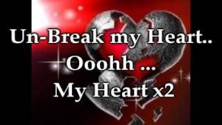 Darin Zanyar Unbreak My Heart Lyrics