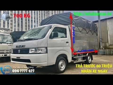 Xe tải suzuki thùng 810kg mui bạt giá rẻ | Bán Hàng Mr : Nhân - 0967777427 | XETAITOANCAU.VN