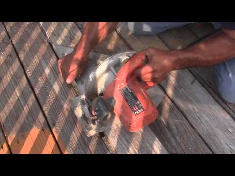 How to Replace Part of A Deck Board.