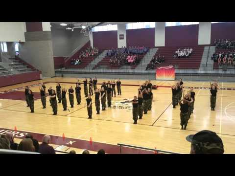 Bobcat Belles Drill Team Military Routine 2016