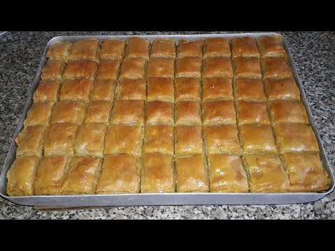 Türk Paxlavasının Hazırlanması Турецкая пахлава