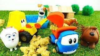 Leo Junior und Max der Bagger bauen ein Landhaus.