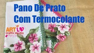 Pano de prato Com Termocolante – Tea Towel With iron On Vinyl