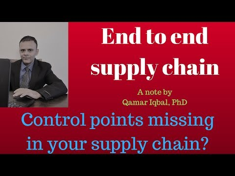 Advances in Supply Chain (end to end supply chain)