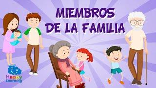 Family members in Spanish for Children | Educational Videos for Kids