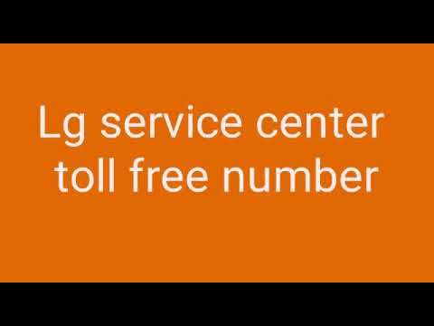 Lg washing machine service center toll free Number