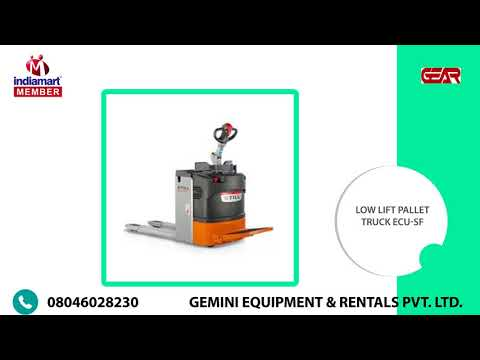 Electrical Forklift & Low Lift Pallet Trucks By Gemini Equipment & Rentals Private Limited, Mumbai
