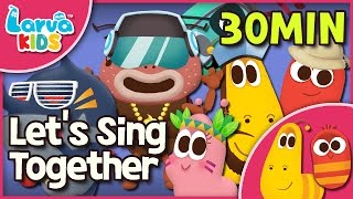 [Nursery Rhyme] Let's Sing Together - Larva Song for Children