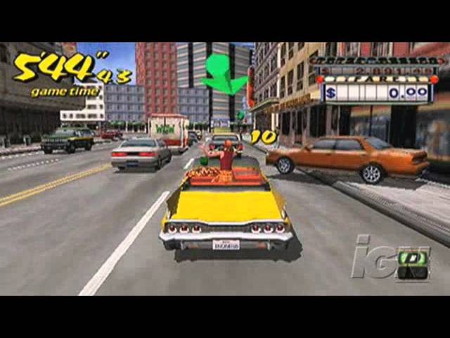 Crazy Taxi: Fare Wars Sony PSP Gameplay - Gameplay Montage
