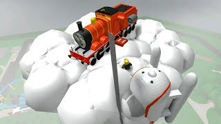 Thomas and Friends in roblox crashes and accidents will happen with Train games