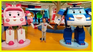 Traffic Safety and Emergency Vehicles with Robocar Poli Kids Playground