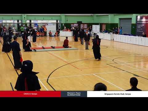 3member Ladies Team Eliminations - CKOU A vs Singapore Kendo Club - Senpo