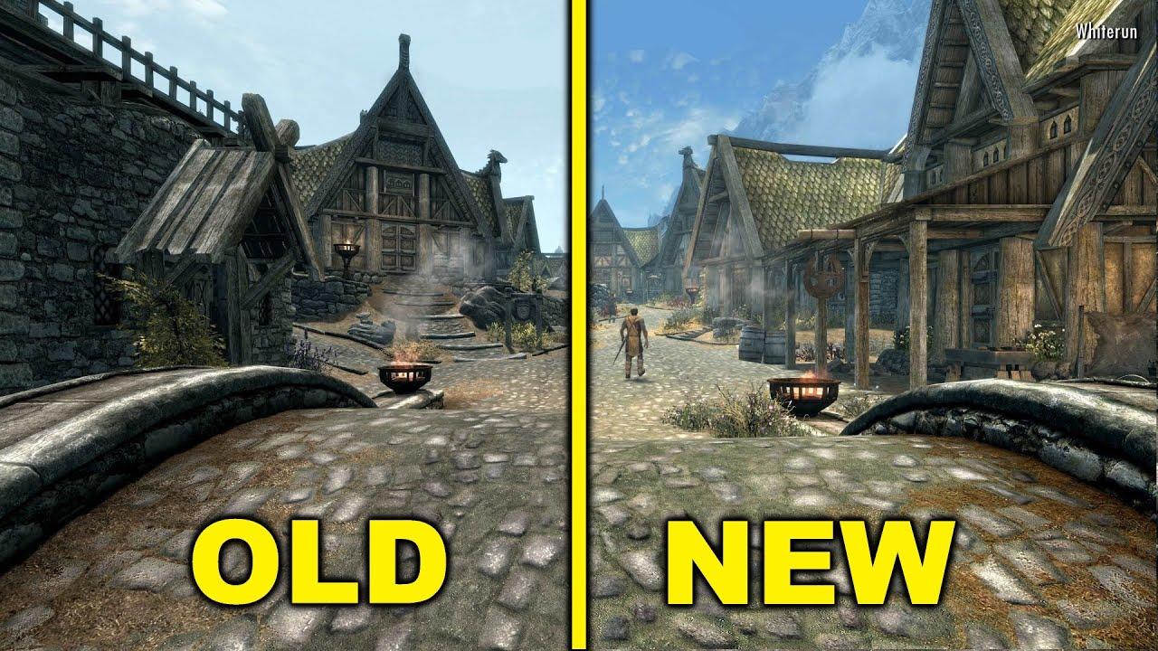 Skyrim: legendary edition vs. Skyrim: special edition graphics.