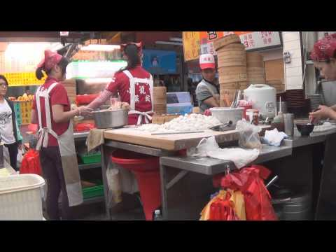 Inside a dumpling shop in Hualien, Taiwan