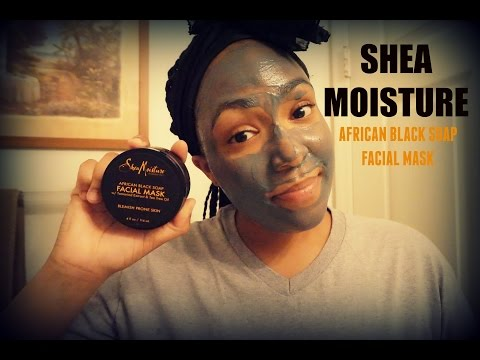 """SHEA MOISTURE """"AFRICAN BLACK SOAP FACIAL MASK"""" DEMO & REVIEW 