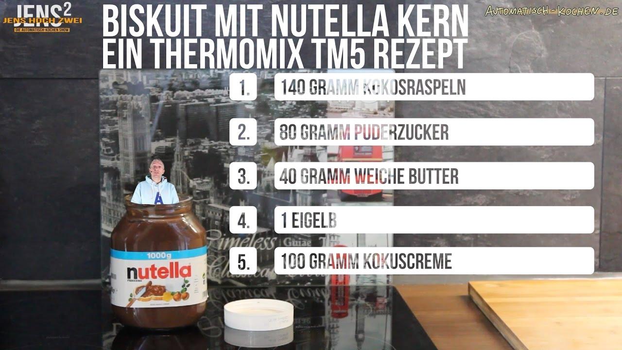 Thermomix Puderzucker 09 biskuit mit flüssigem nutella kern ein thermomix tm5 rezept