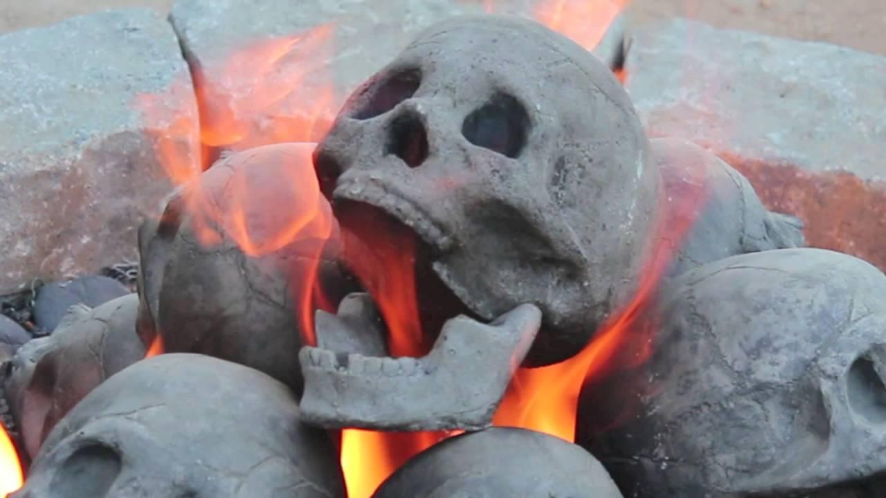 "30"" Skull Fire Pit - YouTube"
