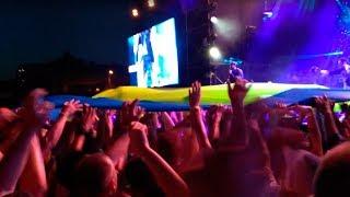 2018 Макс Корж - В ТЕМНОТЕ летай, - летай со мной. Концерт Макса Коржа в Одессе. Флаг Украины.