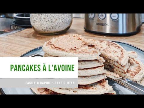 sans-gluten-|-pancakes-a-l'avoine-|-rapide-&-facile-|-vegan