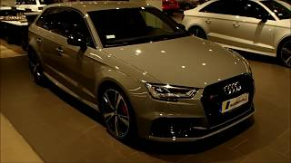 Maybe the most amazing RS3 so far!-  Nardo gray with black optic|red calipers and RS3 sedan rims