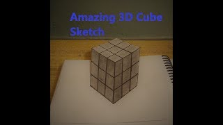 Real 3D cube sketching | 3D Trick Art on Paper Realistic Cube | very easy